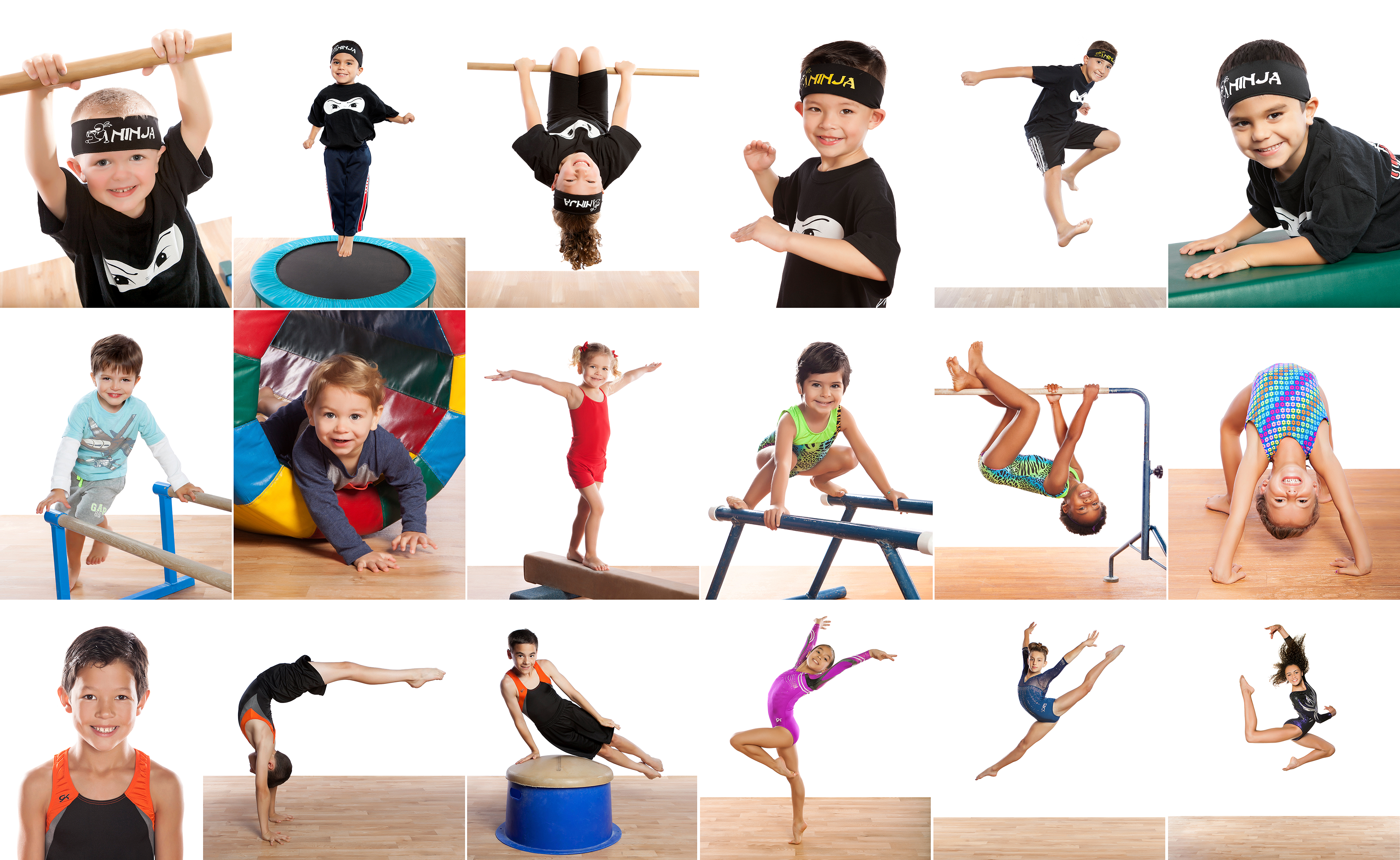 Ninja Zone, Recreational Gymnastics and Competitive Gymnastics Photography